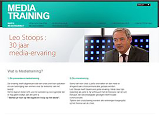 Mediatraining Leo Stoops Aanmaak website