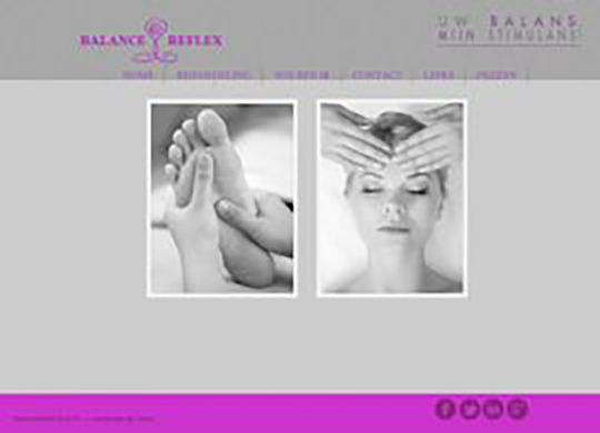 Balance ReflexAanmaak website