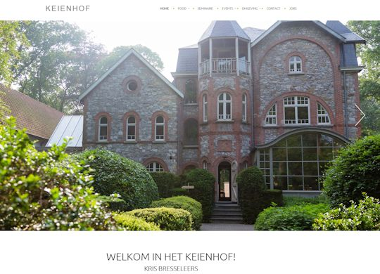 Keienhof Aanmaak website