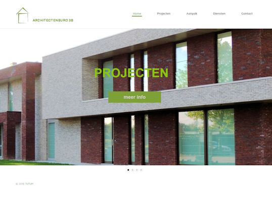 Architectenburo 3B Aanmaak website