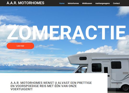 AAR-motorhomesAanmaak website