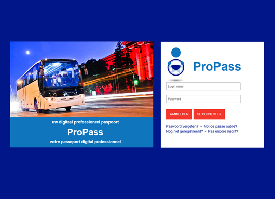 ProPass Uitbereiden website