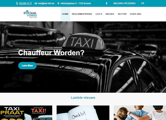 Sociaal Fonds Taxi Aanmaak website