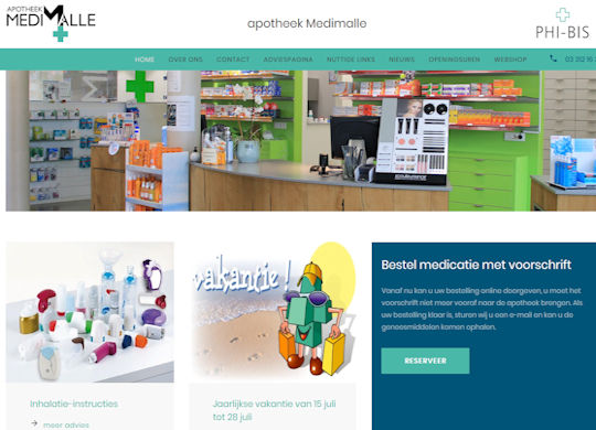 Apotheek Medimalle Aanmaak website