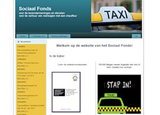 Sociaal fonds Taxi Website