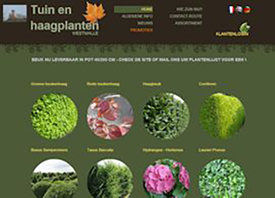 Tuin en Haagplanten Website