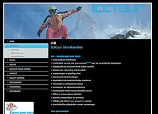 Icetour Website